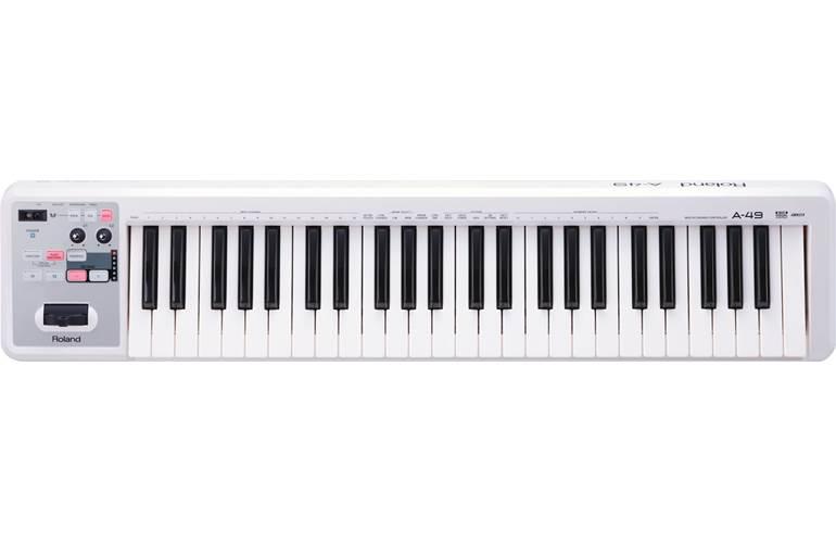 Roland A-49-WH White USB MIDI Controller Keyboard White