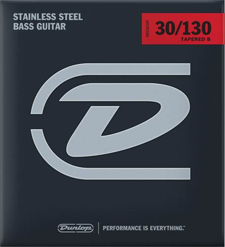 Dunlop DBS30130T Tapered B Stainless Steel 6-String Bass Strings 30-130
