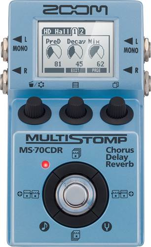 Zoom MS-70CDR Chorus Delay Reverb Multi Stomp