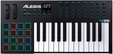 Alesis VI25 25-Key Semi-Weighted USB MIDI Keyboard Controller