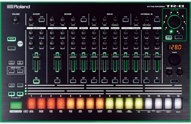 Roland Aira TR-8 Drum Machine (Ex-Demo) #z9d6882