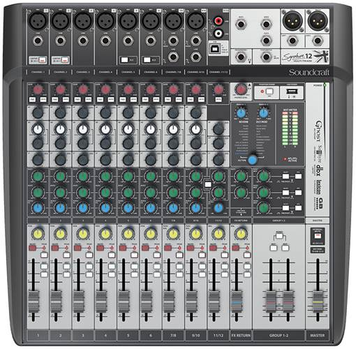 Soundcraft Signature 12 MTK 8 Mic I/P with USB