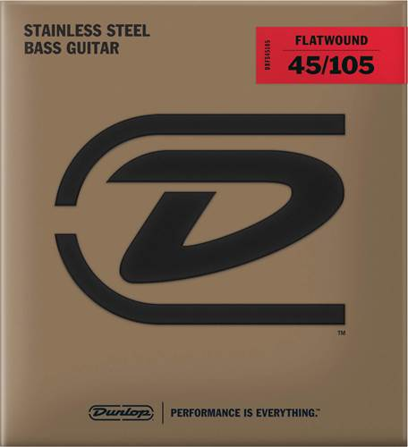 Dunlop DBFS45105 Flatwound Bass Strings Light