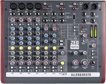 Allen & Heath ZED10FX Mixer