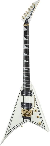 Jackson Pro Rhoads RR3 Ebony Fingerboard Ivory with Black Pinstripes
