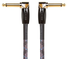 BOSS BIC-1AA 1ft / 30cm Instrument Cable, Angled/Angled 1/4 Inch Jack