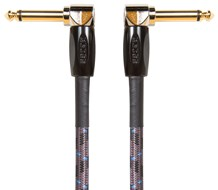 BOSS BIC-3AA 3ft / 1m Instrument Cable, Angled/Angled 1/4 Inch Jack