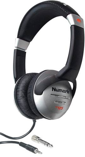 Numark HF125 Headphones and Adapter