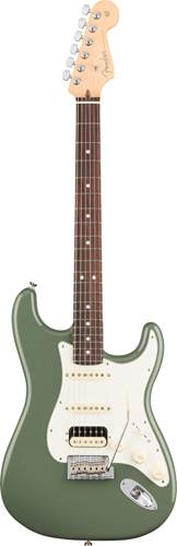 Fender American Pro Strat HSS Shawbucker RW Antique Olive