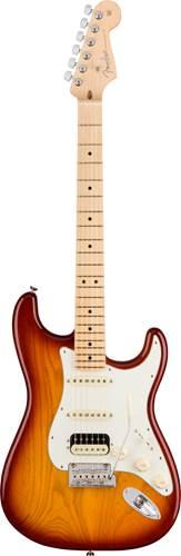 Fender American Pro Strat HSS Shawbucker MN Sienna Sunburst Ash