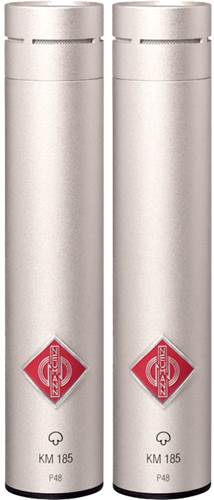 Neumann KM 185 Minature Condenser Studio Mic Stereo Set (Nickel)