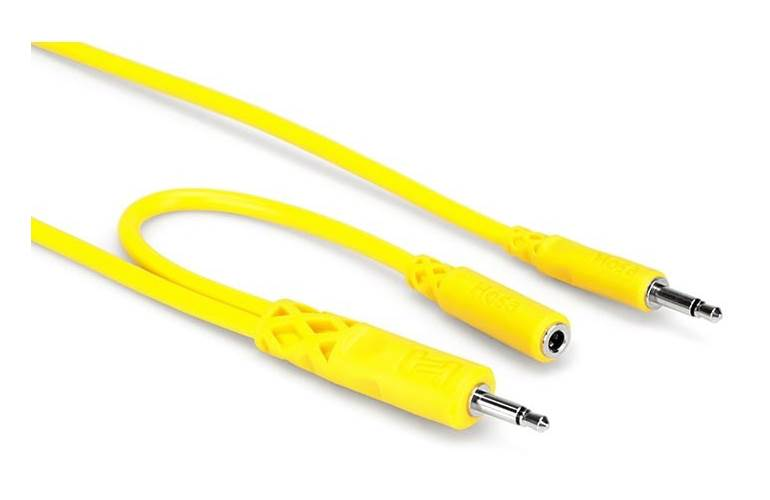 Hosa CMM-545Y Eurorack Patch Mult Cables (45cm - 5 pack)