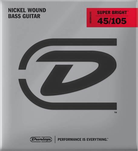 Dunlop DBSBN45105 Bass Medium Superbright Nickel 45-105