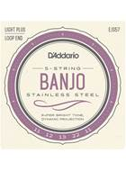 D'Addario EJ57 Custom Medium 5-String Banjo 11-22