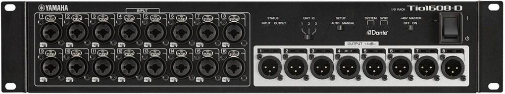 Yamaha TIO1608 Rack-D Dante Equipped I/O Rack for TF Series Mixers  (Ex-Demo) #BEYO01006