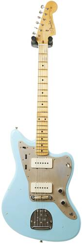 Fender Custom Shop Journeyman Relic 1950s Jazzmaster Faded Daphne Blue #CZ534439