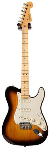 Fender 2018 Limited Strat Tele Hybrid 2 Tone Sunburst MN