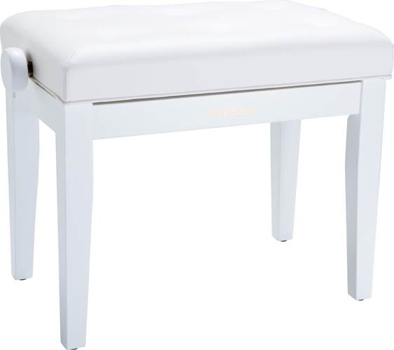 Surprising Roland Rpb 300Wh Adjustable Cushioned Piano Bench Satin White Gmtry Best Dining Table And Chair Ideas Images Gmtryco