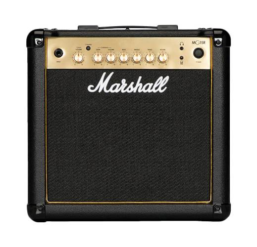 Marshall MG15GR 15 Watt Guitar Combo Black and Gold