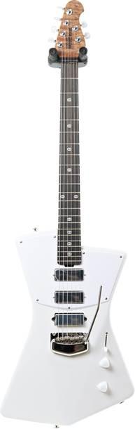 Music Man St. Vincent Polaris White Figured Roasted Maple/Ebony White