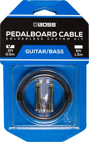 BOSS BCK-2 Pedalboard Cable Kit, 2 Connectors, 2ft/0.5m Cable