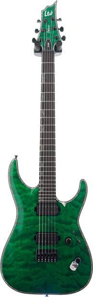 ESP LTD H-1001QM See Thru Green (Ex-Demo) #IW18021274
