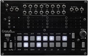 Twisted Electrons Crazy8 Beats MIDI and Trigger Sequencer
