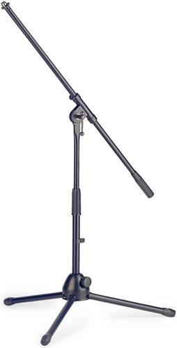 TOURTECH TTS-MI0804BK Low Profile Telescopic Microphone Boom Stand