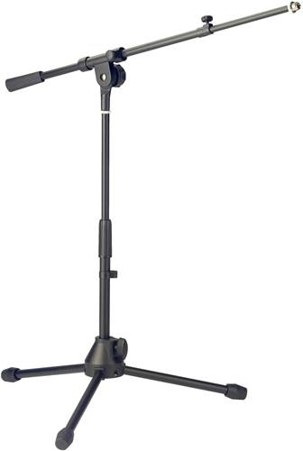 TOURTECH TTS-MI2004BK Low Profile Telescopic Microphone Boom Stand
