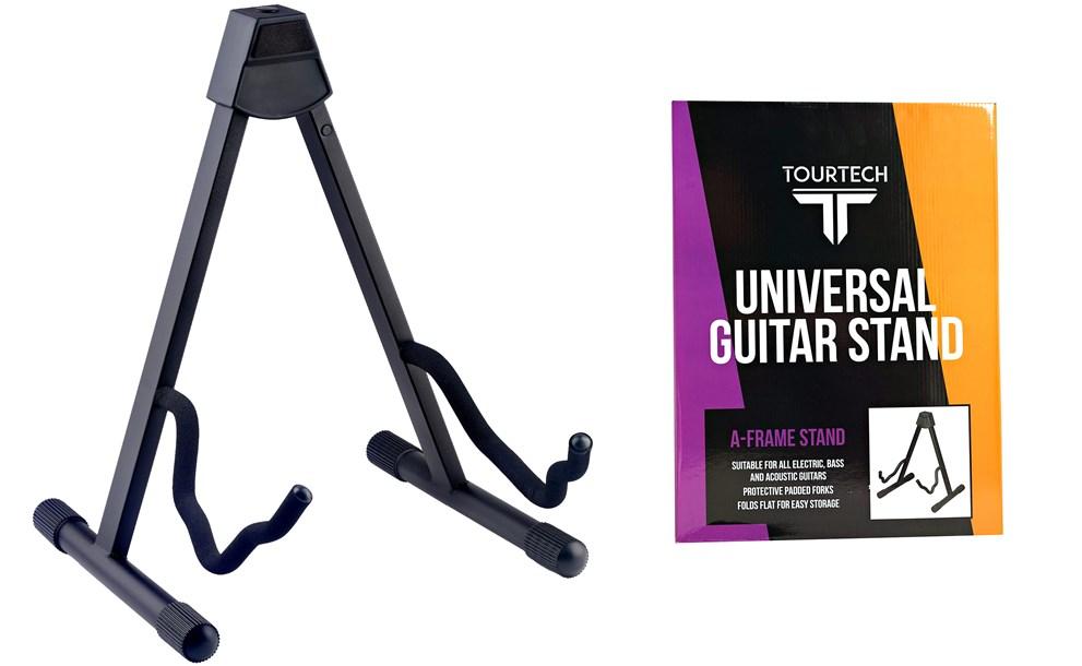 TOURTECH TTS-GA108BK Universal A-Frame Guitar Stand