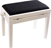 TOURTECH TTBE-P39WHM Matt White Piano Bench