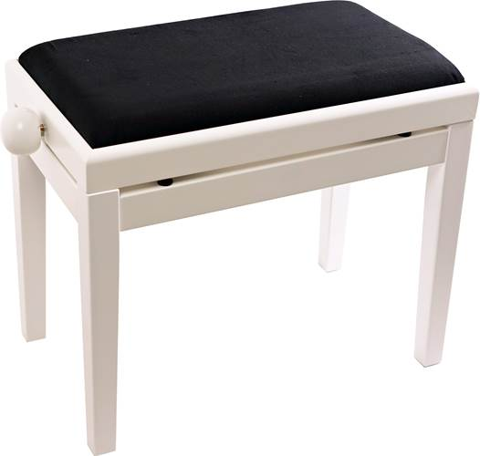TOURTECH TTBE-P39WHM Matt White Piano Bench