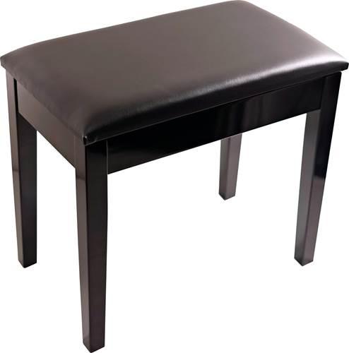 TOURTECH TTBE-P23BKPSBK High Gloss Black Piano Bench with Vinyl Top