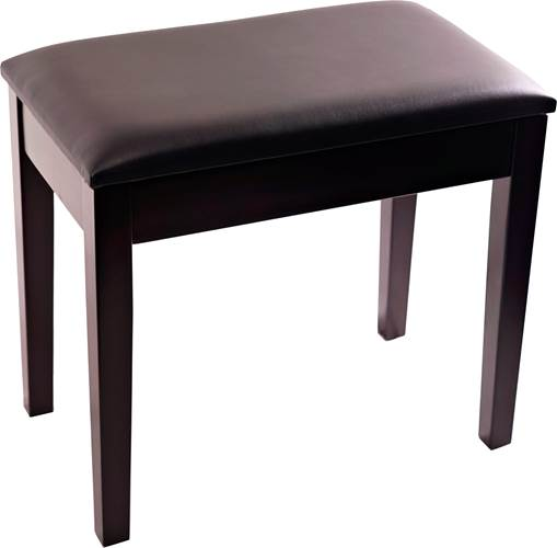 TOURTECH TTBE-P23RWMSBK Matt Rosewood Piano Bench with Black Vinyl Top