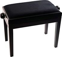 TOURTECH TTBE-P39BKMVBK Matt Black Piano Bench with Velvet Top