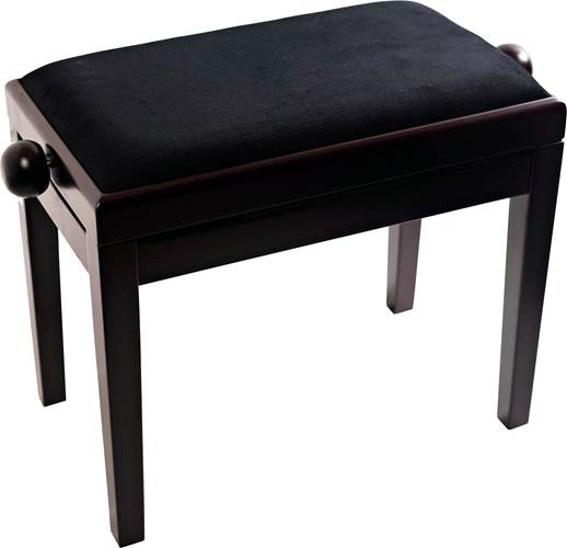 TOURTECH TTBE-P39RWMVBK Matt Rosewood Piano Bench with Black Velvet Top