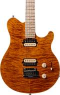 Music Man Axis SuperSport HH Trem Trans Gold Quilt MN