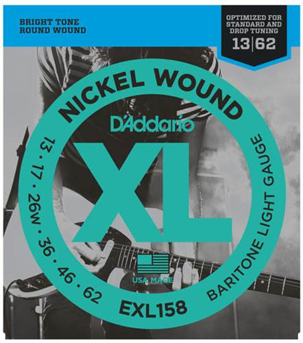 D'Addario EXL158 Nickel Wound Baritone Light 13-62