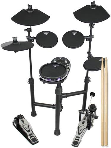 TOURTECH TT-12SM Portable Electronic Drum Kit With Mesh Snare