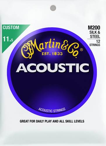 Martin M200 Silk and Steel 12 String 11.5-47