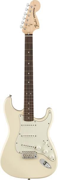 Fender Albert Hammond Jr Stratocaster Olympic White Maple Fingerboard