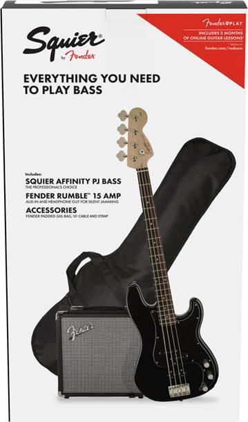 Squier Pack Affinity Series PJ Bass Black
