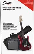 Squier Pack Affinity Series Strat HSS Candy Apple Red