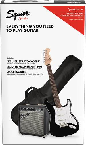 Squier Pack Strat Black