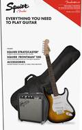 Squier Stratocaster Pack Brown Sunburst