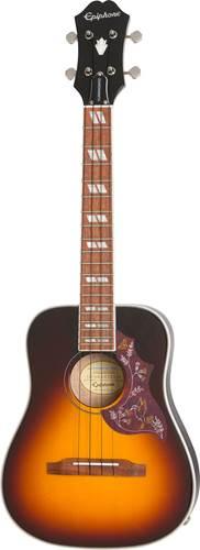 Epiphone Hummingbird Acoustic Electric Tenor Ukulele Outfit Tobacco Sunburst