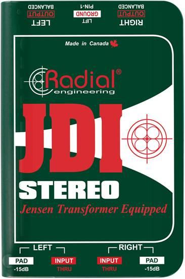 Radial JDI Stereo DI Box