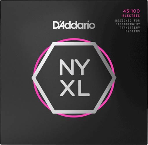 D'Addario NYXLS45100 Bass Set Long Scale, Regular Light, Double Ball End, 45-100