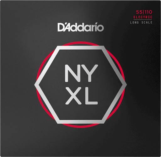 D'Addario NYXL55110, Bass Set Long Scale, Heavy, 55-110