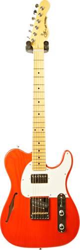 G&L Tribute ASAT Classic Bluesboy Semi-Hollow Clear Orange Cream Pickguard Maple Fingerboard